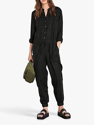 hush Washed Linen Jumpsuit, Black
