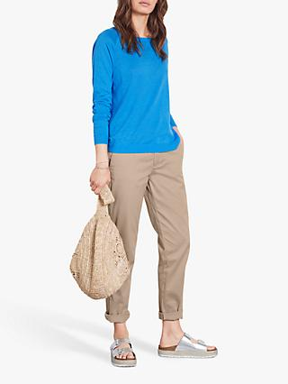 hush Sylvia Crew Neck Jumper, Blue