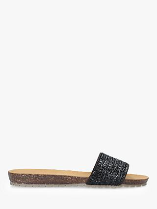Carvela Comfort Super Suede Flat Sandals, Black