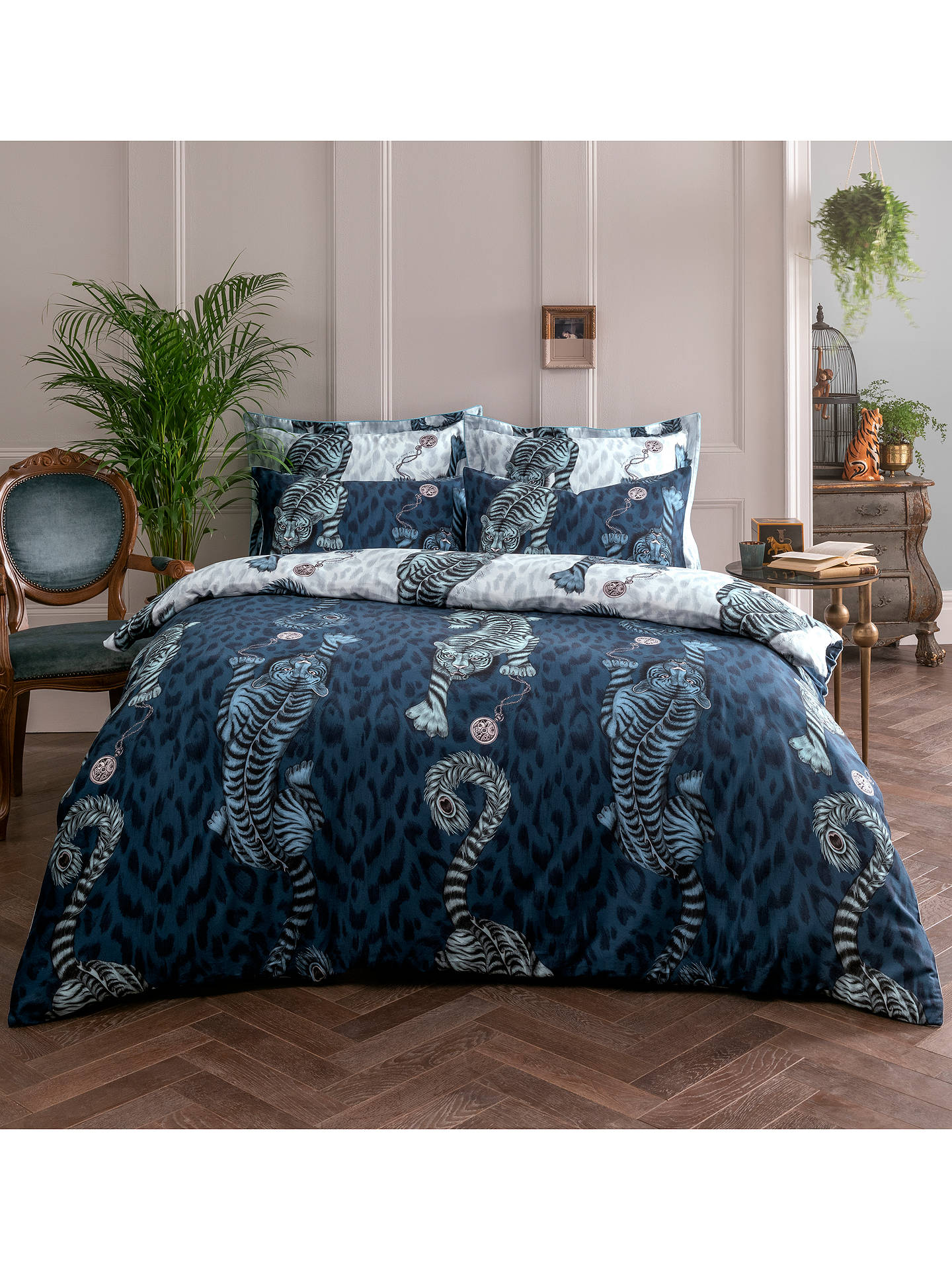 Buy Emma J Shipley Tigris Double Duvet Cover, Blue Online at johnlewis.com