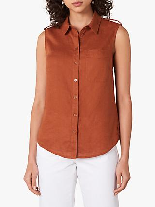 Jaeger Sleeveless Shirt, Brown