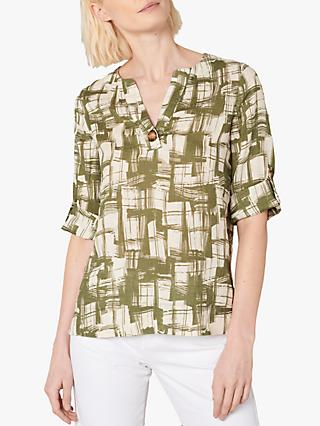 Jaeger Abstract Weave T-Shirt, Khaki