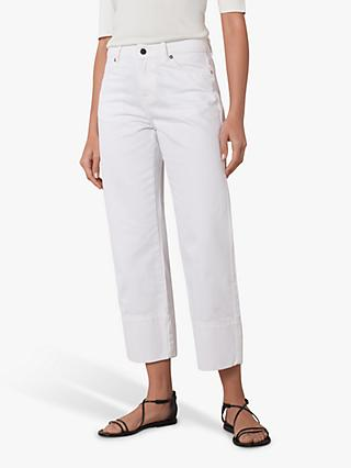 Jaeger Cotton Parallel Leg Jeans, White