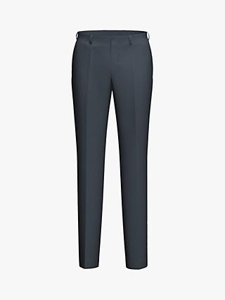 HUGO by Hugo Boss Simmons202 Micro Pattern Regular Fit Suit Trousers, Dark Blue