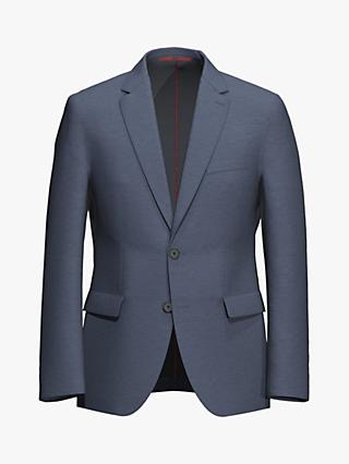 HUGO by Hugo Boss Jeffery202 Micro  Pattern Regular Fit Suit Jacket, Dark Blue