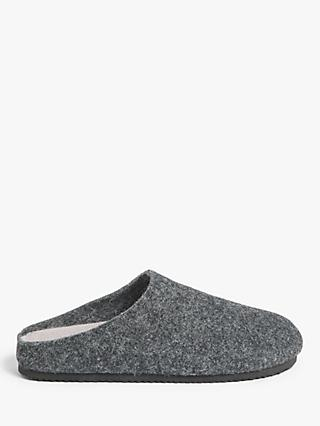John Lewis & Partners Moulded Footbed Mule Slippers, Grey