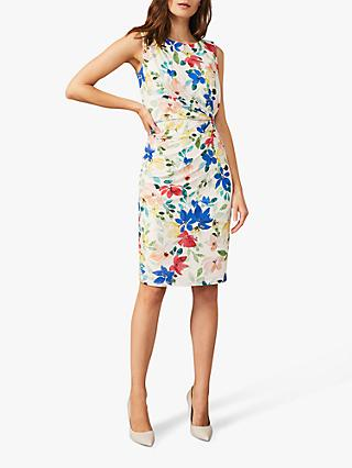 Phase Eight Etta Floral Mini Dress, Almond