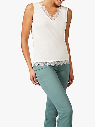 Phase Eight Ottie Eyelash Lace Detail Cami Top, Ivory