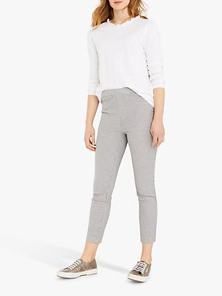White Stuff Jade Stripe Cropped Jeggings, Blue