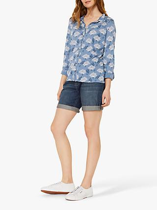 White Stuff Blackberry Bird Shirt, Blue