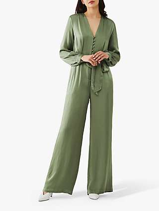 Ghost Poppy Satin Jumpsuit
