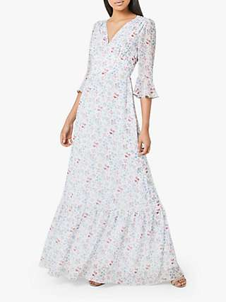 Maids to Measure Hatty Floral Print Flared Maxi Dress, Multi