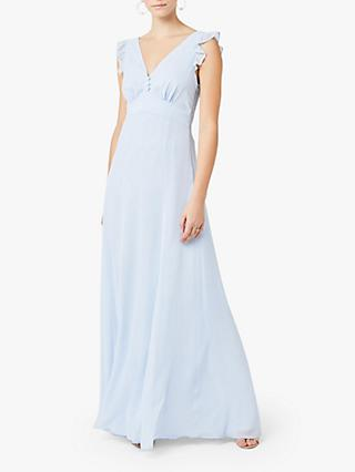 Maids to Measure Dahlia Cloud Chiffon Maxi Dress, Cloud Blue