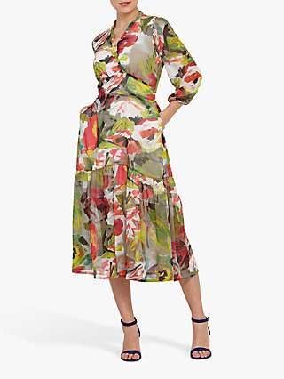 Helen McAlinden Beverly Floral Print Midi Dress, Multi