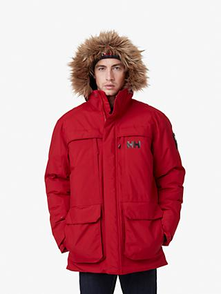 Helly Hansen Nordsjo Men's Waterproof Parka Jacket, Red