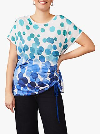 Studio 8 Jinny Spot Print Top, Blue/Multi