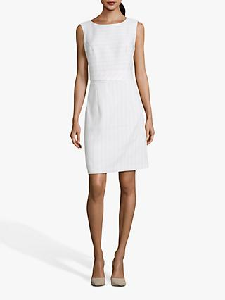 Betty & Co. Striped Sleeveless Shift Dress, White/Cream