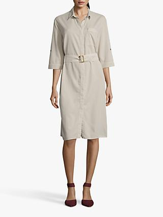 Betty & Co. Belted Shirt Dress, Beige