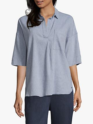 Betty & Co. V-Neck Tunic Shirt, Bijou Blue