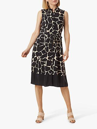 Hobbs Suzanna Dress, Black/Neutral