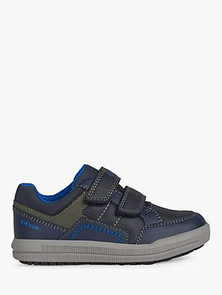Geox Children's Arzach Riptape Trainers, Navy/Military
