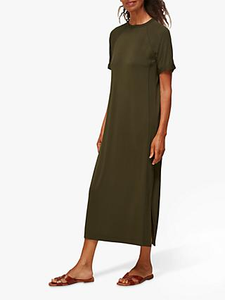 Whistles Jersey Maxi Dress, Khaki
