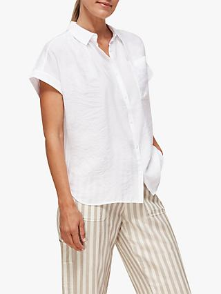 Whistles Nicola Shirt, White