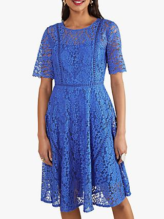 Yumi Floral Lace Mini Dress, Blue