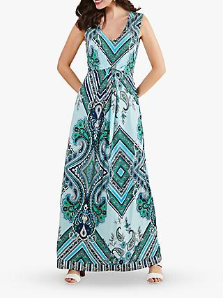 Yumi Paisley Scarf Print Maxi Dress, Blue