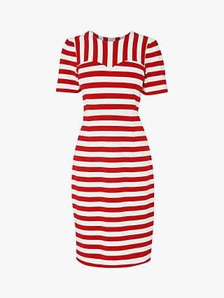 L.K.Bennett Emma Stripe Mini Dress, Red