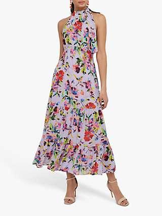 Monsoon Brynn Floral Maxi Dress, Lilac