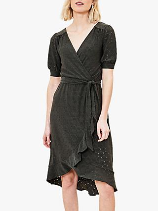 Oasis Broderie Wrap Dress
