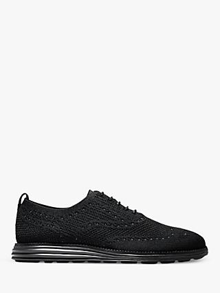 Cole Haan Original Grand Wingtip Stitchlite Oxford Shoes, Black
