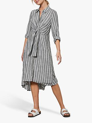 Mint Velvet Shirt Stripe Dress, Green