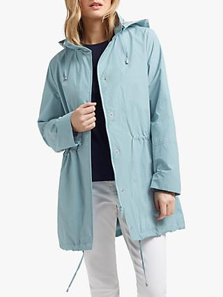 Four Seasons Two Tone Parka Jacket, Kingfisher Silver