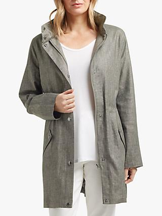 Four Seasons Concealable Hooded Showerproof Parka Jacket, Grey