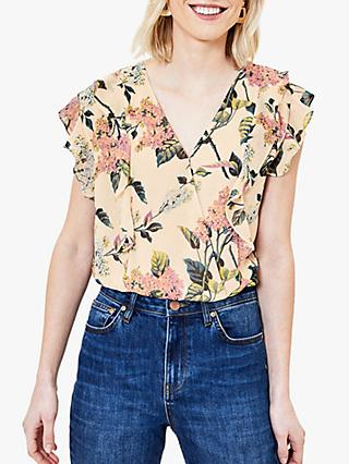 Oasis Blossom Print Wrap Top, Multi