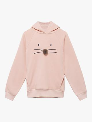 Mintie by Mint Velvet Girls' Animal Face Hoodie, Pink