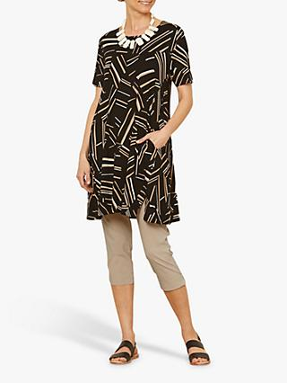 Masai Copenhagen Gedda Abstract Striped Tunic Top, Nomad