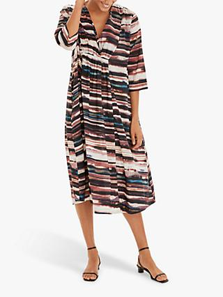 Masai Copenhagen Nella Abstract Print Midi Dress, Mesa Rose