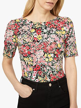 Warehouse Floral Short Sleeve Top, Multi