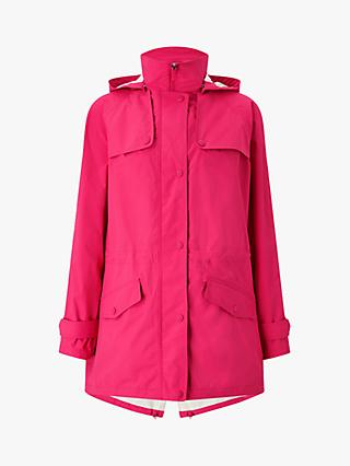 Four Seasons Performance Hooded Parka Jacket, Hot Pink/Silver