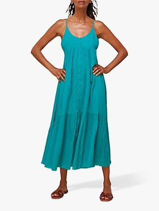 Whistles Trapeze Cotton Voile Maxi Dress