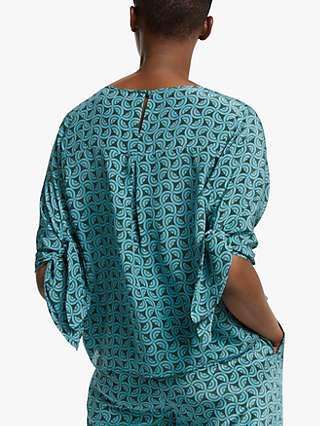 Weekend MaxMara Adone Printed Silk Blouse, Jade