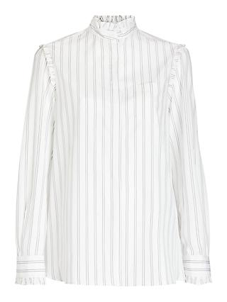 Weekend Max Mara Bronzo Stripe Shirt, White
