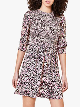 Oasis Leopard Mini Dress, Multi