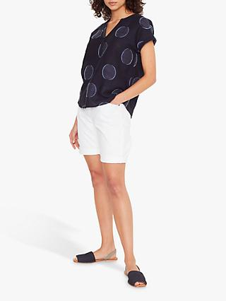 White Stuff Remi Spot Print Top, Navy