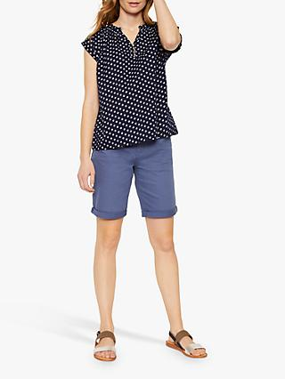 White Stuff Beach Break Floral Print Top, Navy