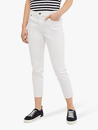 White Stuff Straight Cropped Jeans, White