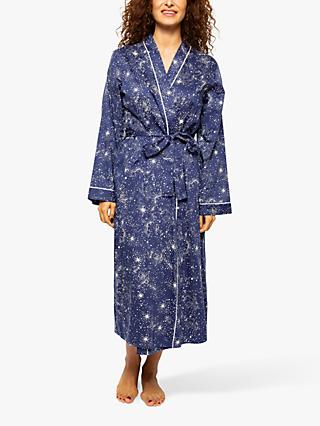 Cyberjammies Stella Star Print Dressing Gown, Navy